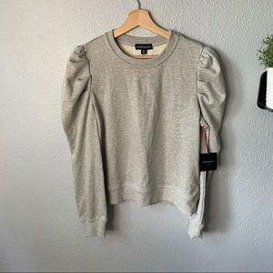 🆕 Cynthia Rowley Bubble Sleeve Sweatshirt size m
